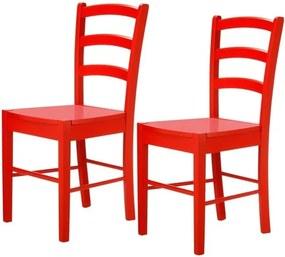 Set 2 scaune Støraa Trento Quer, roșu