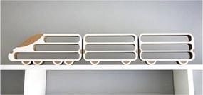 Set 3 rafturi Unlimited Design, locomotivă - vagon