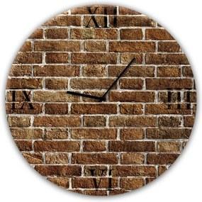 Ceas de perete Styler Glassclock Red Brick, ⌀ 30 cm