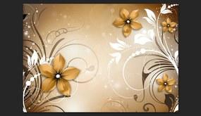 Fototapet Bimago - Brown rhapsody + Adeziv gratuit 400x280 cm