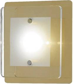 Aplica LED Lene metal/sticla, galben, 12 cm, 1 bec, 230 V, 5 W
