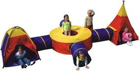 Set Corturi de Joaca pentru Copii cu 4 Tunele Multicolore