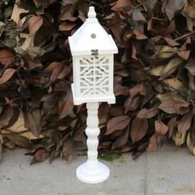 Felinar Mondo din lemn alb 78 cm