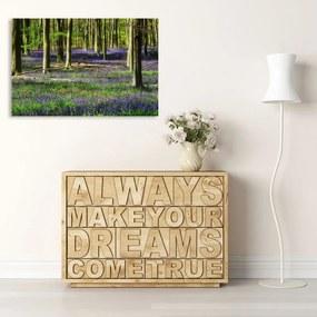 CARO Tablou pe pânză - Forest Flowers 40x30 cm