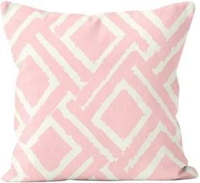 Față de pernă Domarex Jane, roz, 45 x 45 cm