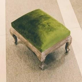 Taburet Green din lemn si tapiterie catifelata 33x34x44 cm