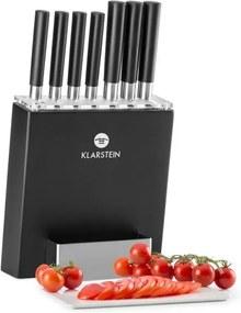 Klarstein KITANO, set de 8 cuțiete cu suport, lame precise, design japonez