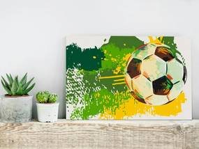 Bimago Pictura pe numere - Football Emotions | 60x40 cm