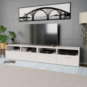 275110 vidaXL Comode TV 2 buc, PAL, 95 x 35 x 36 cm, alb