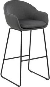 Set 2 scaune de bar Actona Ally, gri închis