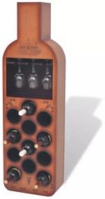 Suport sticle de vin, formă de sticlă, maro, 12 sticle