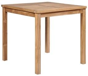 44996 vidaXL Masă de grădină, 80 x 80 x 77 cm, lemn masiv de tec