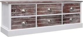 284124 vidaXL Bancă de hol, maro, 115 x 30 x 40 cm, lemn