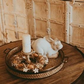 Coronita de Paste din lemn natur 30x10 cm