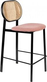 Scaun bar multicolor din poliester si lemn Spike Counter Pink Zuiver