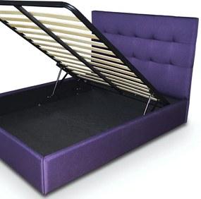 Pat tapitat somiera metalica rabatabila inclusa, dimensiune 140x200, material si culoare la alegere – Model Terano