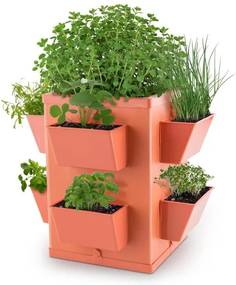 Waldbeck Herbie Hero ghiveci pentru plante de gradina8 PP-perete foaie teracotă
