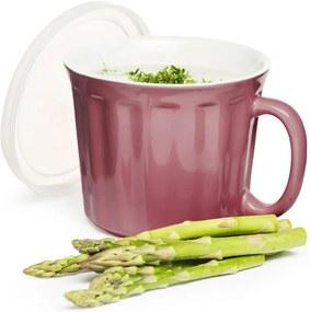 Cană din porțelan pentru supă Sagaform 500 ml, roz