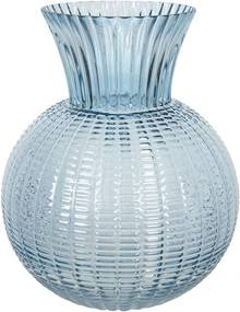 Vaza pentru flori din sticla albastra Ø 20 cm x 25 h