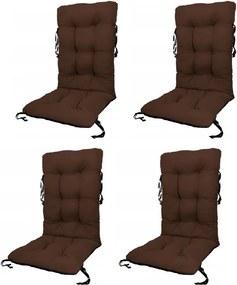 Set Perne pentru scaun de gradina sau sezlong, 48x48x75cm, culoare maro, 4 buc/set
