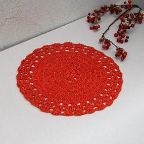 Napron Crochet rosu 37 cm