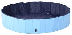 PawHut Piscina Pliabila pentru Caini in PVC, Albastru deschis, 160x30cm (ØxH)
