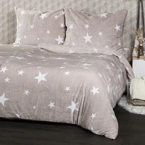 Lenjerie pat 1pers. 4Home Stars Grey , 140 x 200 cm, 140 x 200 cm, 70 x 90 cm