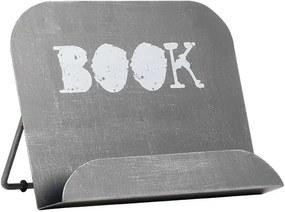 Suport metalic pentru cărți LABEL51, gri