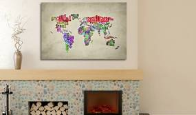 Tablou - The map of the World - english names of countries 60x40 cm