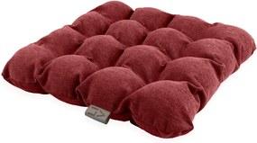 Pernă pentru șezut cu bile pentru masaj Linda Vrňáková Bubbles, 45 x 45 cm, roșu