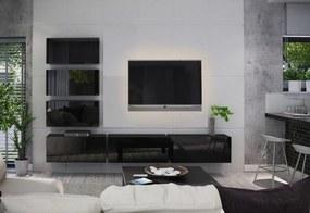 Expedo Mobilă sufragerie ELPASO 4, negru/negru luciu