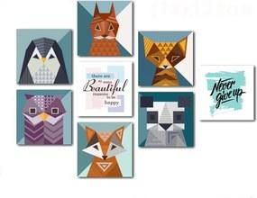 Set 8 tablouri Insigne Animals