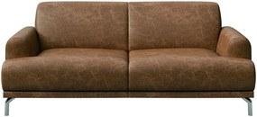 Canapea din piele MESONICA Puzo, maro