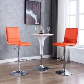 249637 vidaXL Scaune de bar, 2 buc., portocaliu, piele artificială