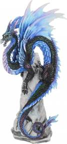 Statueta dragon Santinela de safir 27 cm Andrew Bill
