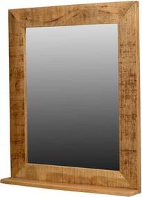 Oglinda dreptunghiulara maro din lemn de mango 67x80 cm Rustic Sit Moebel