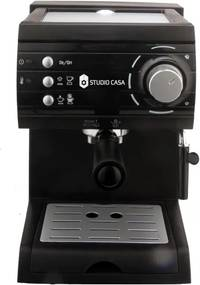 Espressor cu pompa Aroma SC422 Black Studio Casa, 15 bari, 1.5l, 1050w, Negru