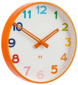 Ceas de perete Future Time FT5010OR Rainbow orange,pentru copii, de design, diam. 30 cm
