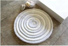 Covoraș de baie Confetti Bathmats Ecru, Ø 90 cm, alb