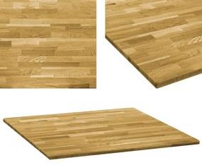Blat de masă, lemn masiv de stejar, pătrat, 23 mm, 80x80 cm