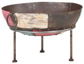 321947 vidaXL Vatră de foc rustică, colorată, Ø 60 cm, fier