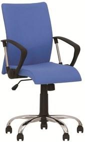 Scaun de birou NEO GTP CHROME, Albastru deschis stofa fiji