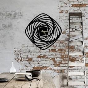 Ceas metalic de perete Girdap, ⌀ 50 cm, negru