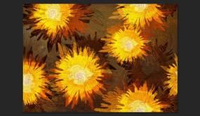 Fototapet Bimago - Sunflower dance + Adeziv gratuit 400x280 cm