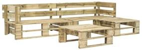 276315 vidaXL Set mobilier de grădină din paleți, 4 piese, lemn