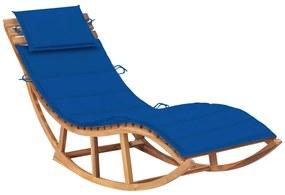 3063343 vidaXL Șezlong balansoar cu pernă, lemn masiv de tec