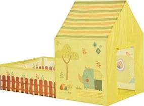 [casa.pro]® Cort pentru copii motiv Casuta cu curte - 115 x 156 x 90 cm - poliester/plastic