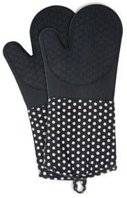 Set 2 mănuși din silicon Wenko Oven Black, negru