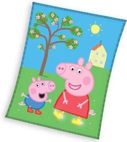 Pătură copii Peppa Pig și George, 110 x 140 cm