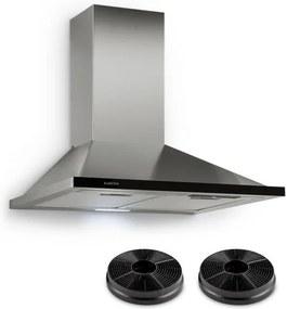 Klarstein Galina, hotă de aburi, 60 cm, 350 m³/h, led, oțel inoxidabil, sticlă acrilică